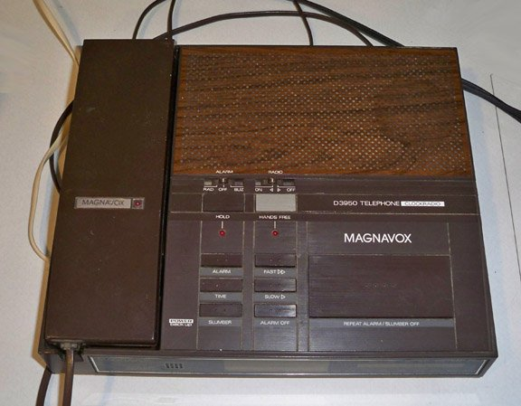 Vintage Magnavox D3950 Telephone Clock Radio circa 1980s