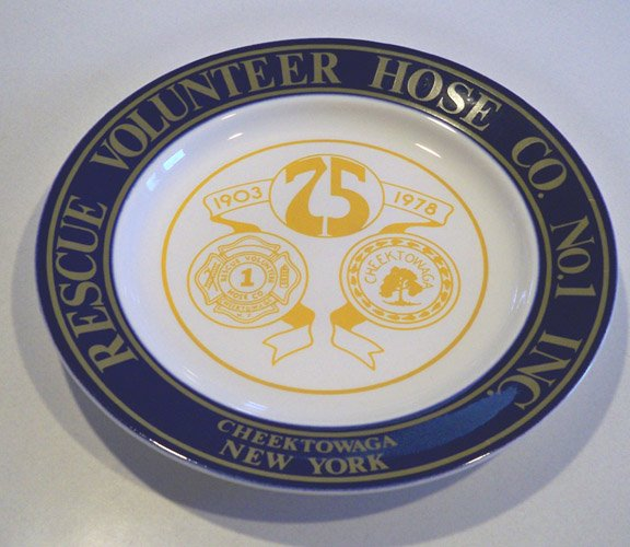 1978 Rescue Volunteer Hose Co. No. 1 75 Years Commemorative Plate
