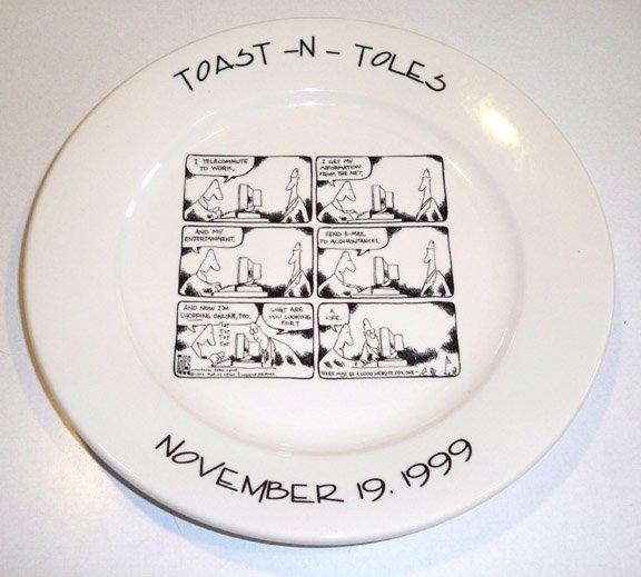 Toast n' Toles Tom Toles Buffalo News Souvenir Plate 1999