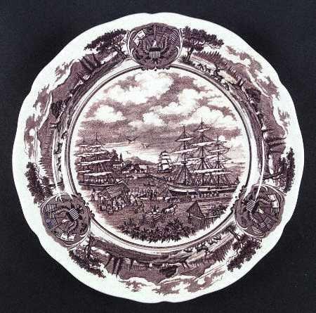 Vintage J & G Meakin American Legend Dinner Plate Set of 2