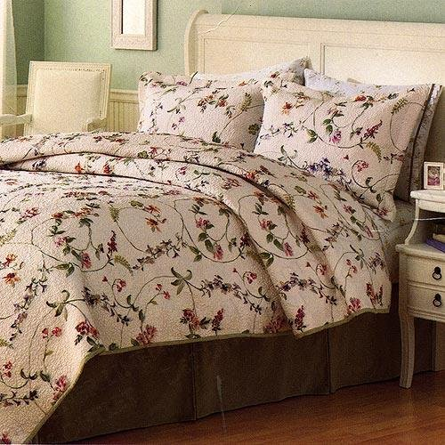 Liz Claiborne Gabriela Quilted Twin Comforter & Sham Set - Gently Used