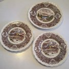 Vintage Vernon Kilns Vernon&#39;s 1860 Salad Plate & 2 Bread Plates