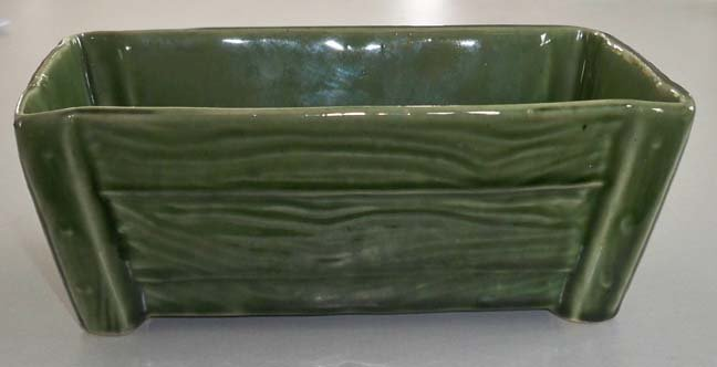 Vintage Brush Pottery Green Planter