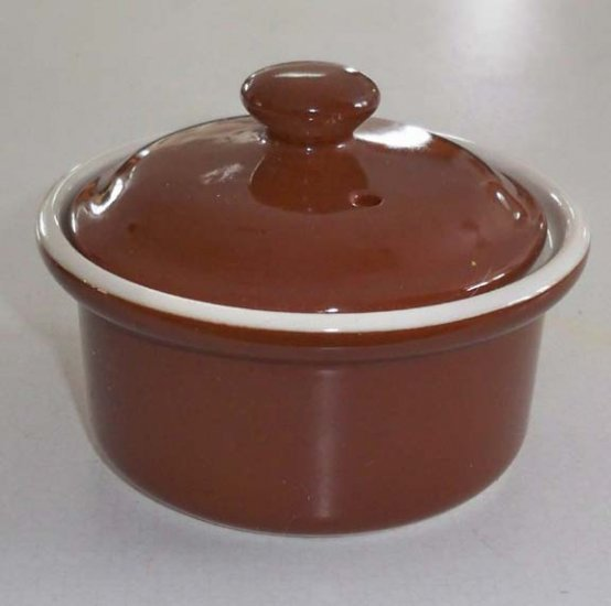 Buffalo Oneida China Restaurant Ware Brown Bowl with Lid