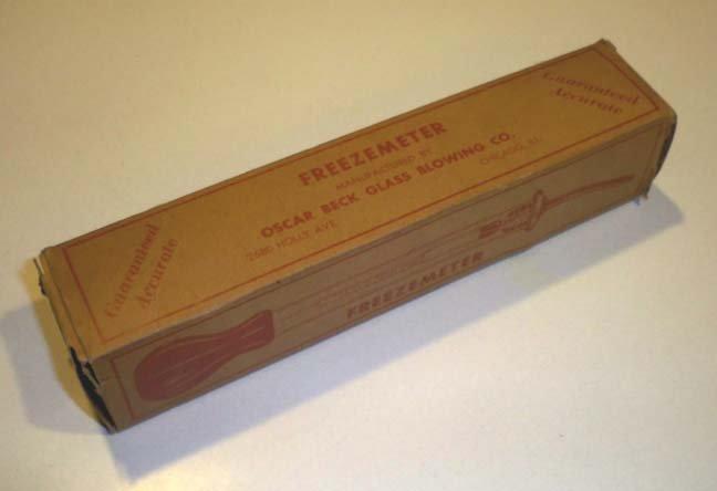 Vintage Oscar Beck Universal Freezemeter