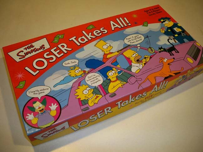Vintage 2001 The Simpsons LOSER Takes All! Board Game