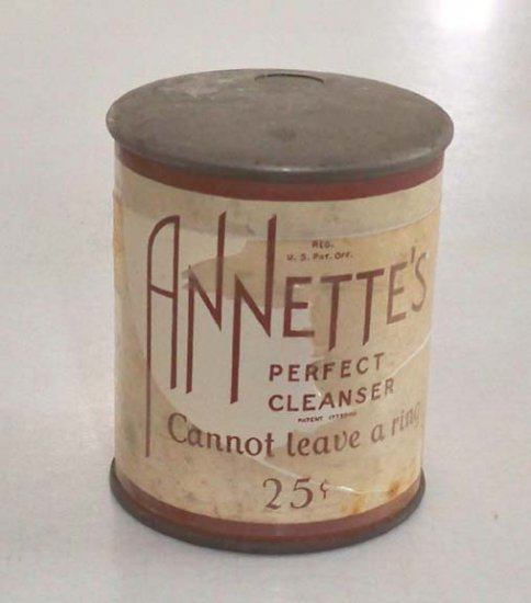 Vintage 1930 Annette's Perfect Cleanser 'Cannot leave a ring' MIP
