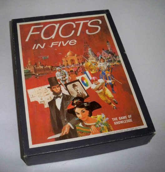 Vintage 1976 Avalon Games Facts in Five Game