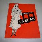 Original 1960 Playbill - The Big New Musical Do Re Mi