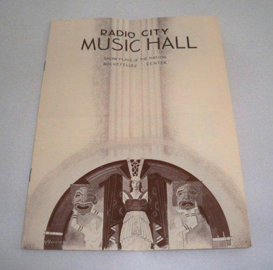 Vintage March 11, 1937 Radio City Music Hall Program