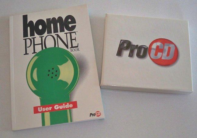 Vintage Software - ProCD Inc. Home Phone 1996