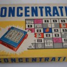 Vintage MB 1961 Concentration Game 4th Edition