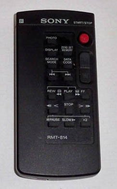 Sony Remote Control RMT-814 OEM Sony DCR-TVR