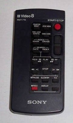 Sony Video 8 CAMCORDER Remote Control RMT-715 OEM