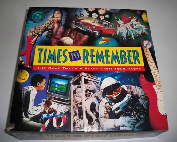 Vintage 1991 Milton Bradley Times to Remember Trivia Game