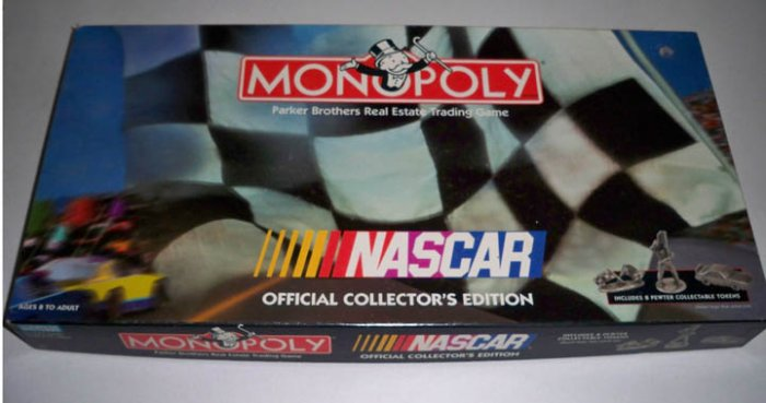Vintage Parker Brothers 1997 Monopoly NASCAR Official Collectors Edition Board Game