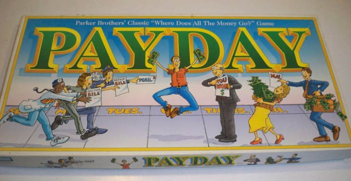 Vintage 1994 Parker Bros. PayDay Board Game
