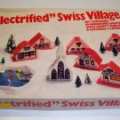 Vintage 9 Pc Plastic Christmas Swiss Village by Regency of Florida circa 1960s