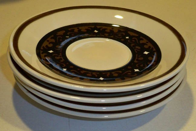 Vintage Royal China Overture Saucer (no cup) - Set of 4