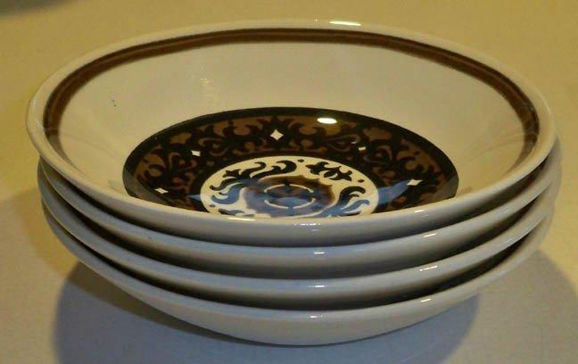 Vintage Royal China Overture Berry Dessert Bowl - Set of 4