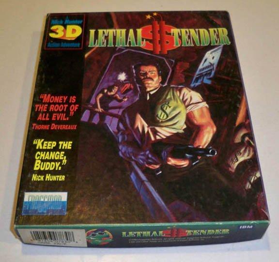 Vintage 1993 Lethal Tender A Nick Hunter 3D Action Adventure PC Software