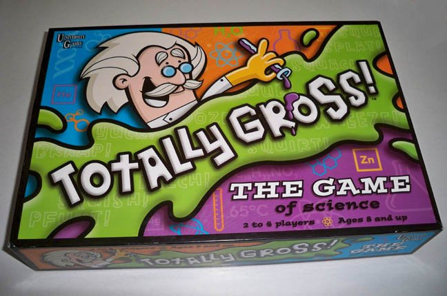 University Games 2002 Totally Gross The Game of Science Board Game