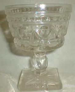 Vintage Indiana Colony Glass Park Lane Clear 7 oz. Sherbet Dessert Glass
