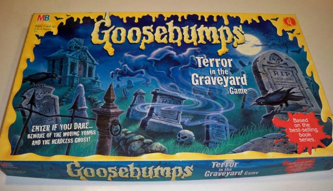 Vintage Milton Bradley 1995 Goosebumps Terror in the Graveyard Board Game