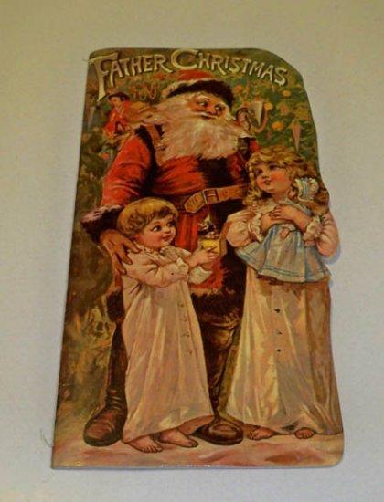 1983 Merrimack Publishing Corp Father Christmas Diecut Antique Reproduction