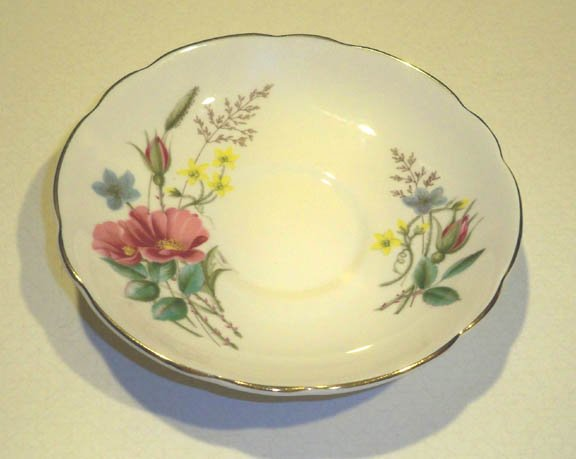 Vintage Regency English Bone China Floral Bouquet Saucer - No Cup