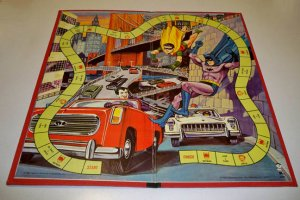 Vintage Hassenfeld Bros. 1965 Batman and Robin Game Board (board only)