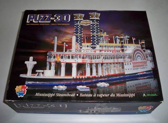 Puzz3DWrebbit#P3D-908MississippiSteamboat718PcPuzzle