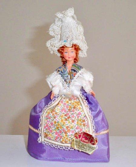 Vintage French Celluloid Folklore Regional Costumed Doll Gonzalez Coutances