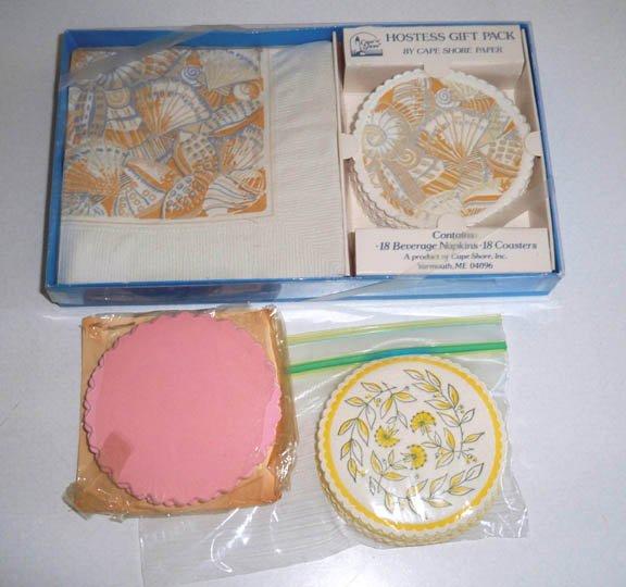 Vintage Cape Shore Paper Hostess Coasters & Mixed Lot