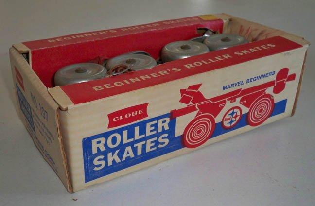 Vintage Globe Beginner's Roller Skates No. 197 MIB