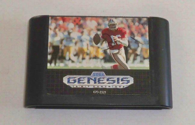 Sega Genesis Game Cartridge - NFL Sports Talk Football '93 Joe Montana