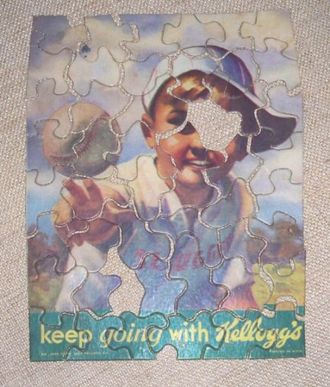 """Vintage 1933 """"Keep Going with Kellogg's"""" Advertising Puzzle - No Box"""
