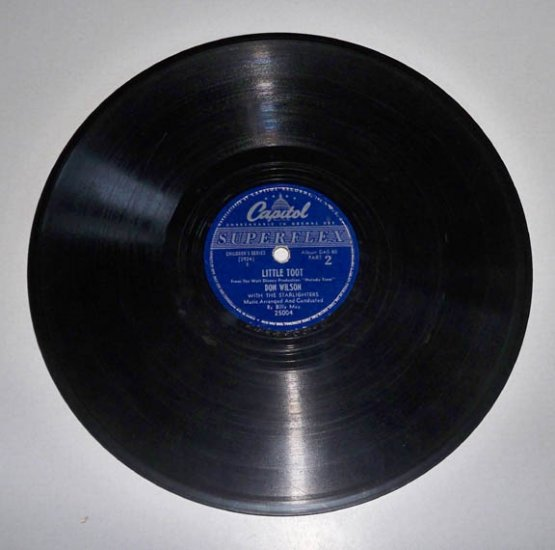 Vintage 1948 Capital Records DAS-80 Melody Time Little Toot Don Wilson & Starlighters - 78 Rpm
