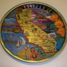 Vintage Colorful Souvenir California Metal Tray