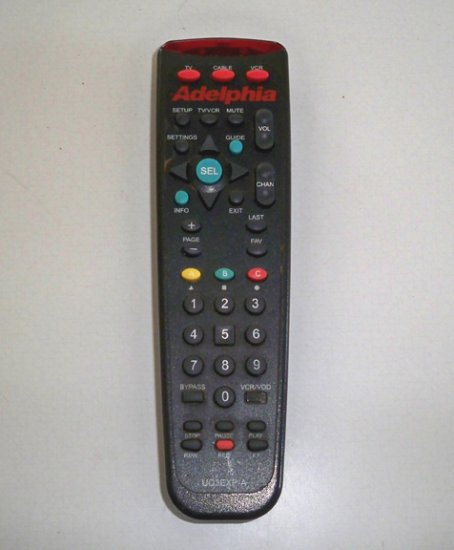 Adelphia Remote Control UG3EXP-A