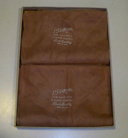 Vintage Lis-Mar First Quality Seamfree Nylon Stockings Set of 2 Pair - MIB