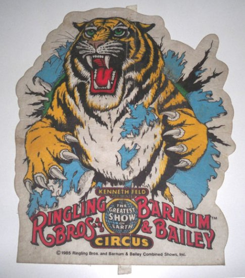 Vintage 1985 Ringling Brothers & Barnum & Bailey Circus Felt Banner
