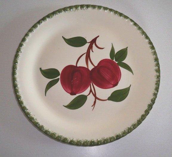 Vintage Blue Ridge Handpainted Quaker Apple Dinner Plate Set of 2