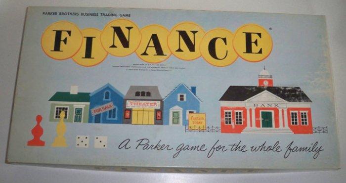 Vintage 1958 Parker Bros. Finance Board Game