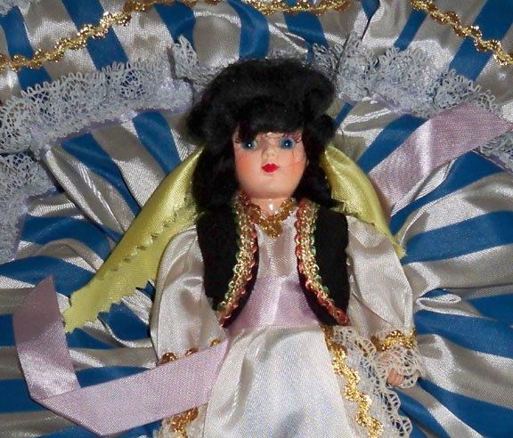 Vintage 1950s Duchess Dolls Corp. Dolls of All Nations #711 Greek Girl MIB