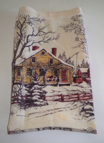 Vintage 1965 Calendar Tea Towel by Luther Travis