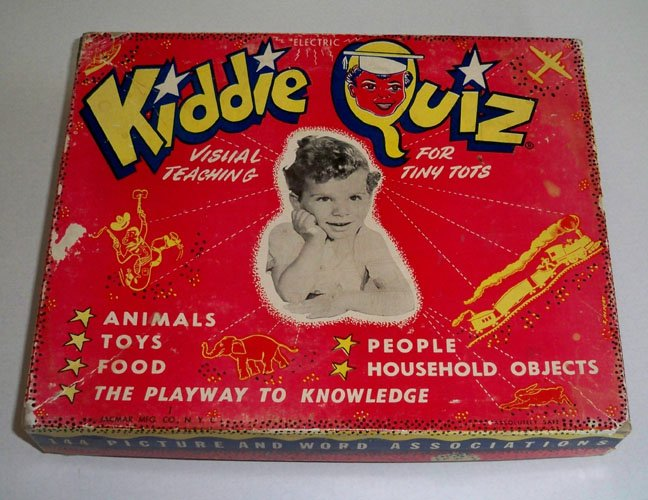 Vintage Kiddie Quiz - Electric Visual Teaching for Tiny Tots Game circa 1950s