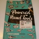 Vintage 1956 Powered Hand Tools A Craftsman Handbook