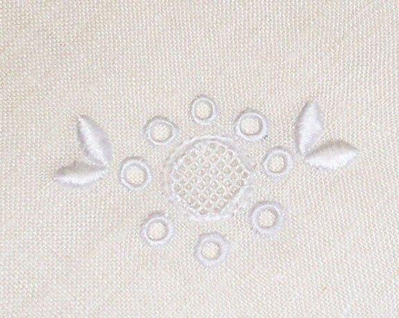 Vintage Linen Embroidered Table Napkins Set of 6