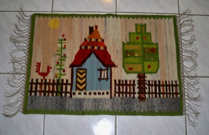 Hand Made in Poland Wool Kilim Wall Hanging Tapestry